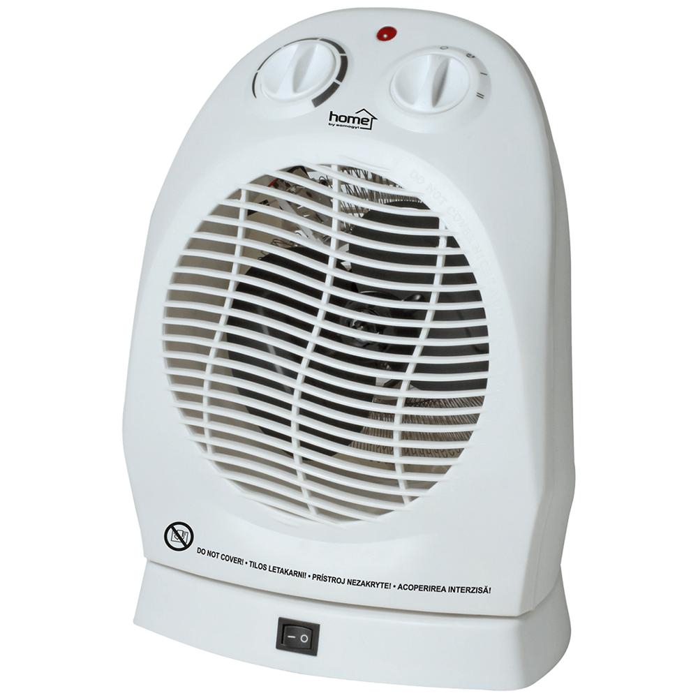 Aeroterma cu ventilator FK 1/0 Home by Somogyi, 2000 W, 2 trepte, termostat mecanic, oprire automata, IP20, 22 x 25 x 12,5 cm imagine 2021 mathaus
