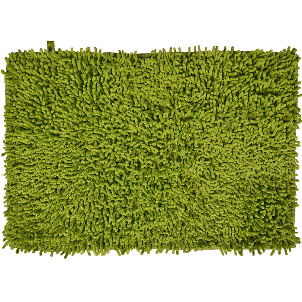 Covoras baie, bumbac 100%, verde, 60 x 40 cm