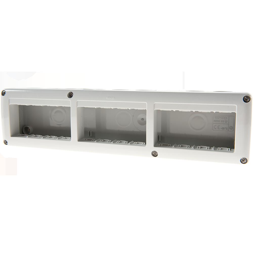 Doza aparataj Gewiss GW27007, aparent, 12 module, IP40, 330 x 82 x 55 mm