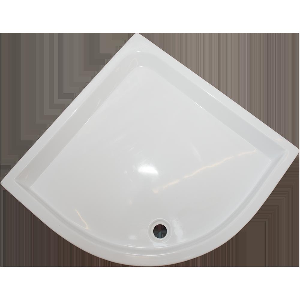 Cadita de dus Fibrex, acril sanitar, semirotunda, 80 x 80 x 13 cm imagine 2021 mathaus