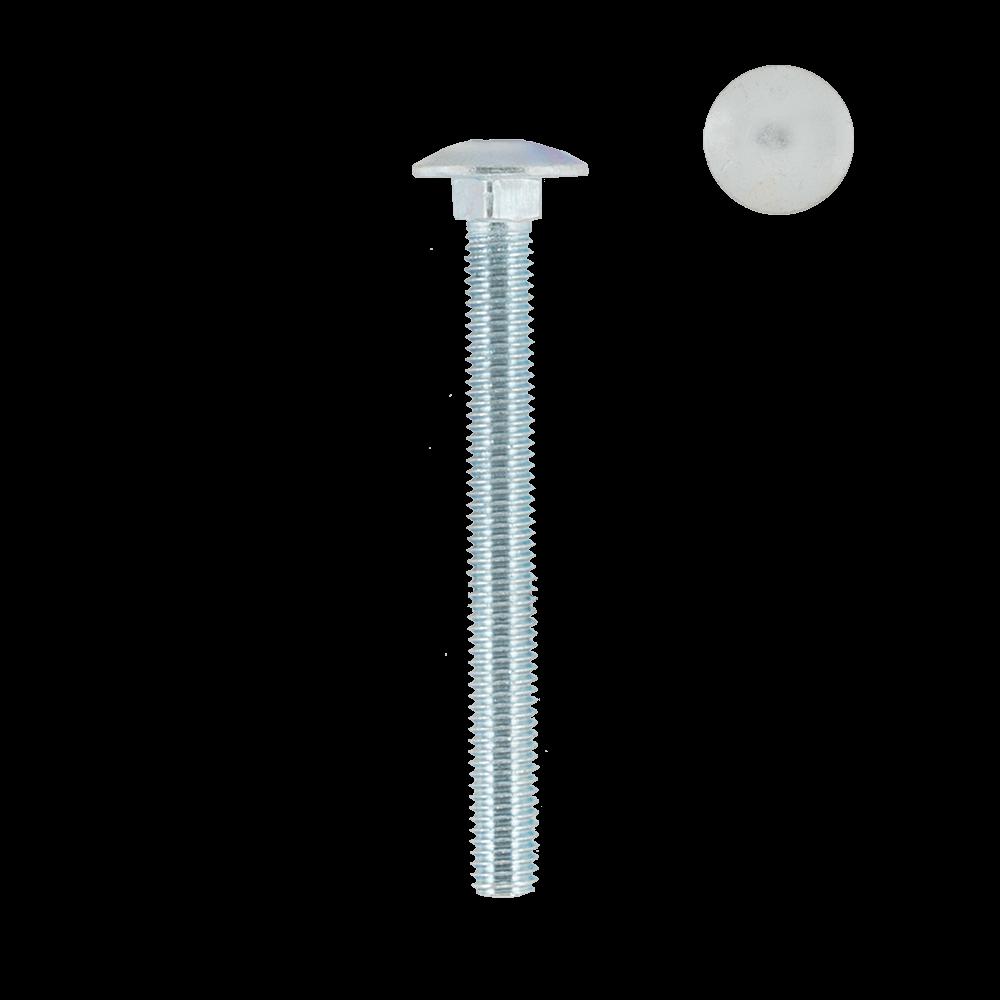 Surub cu cap bombat, zincat alb, DIN 603 - 4,6, M 8 x 80 mm, 25 buc imagine MatHaus