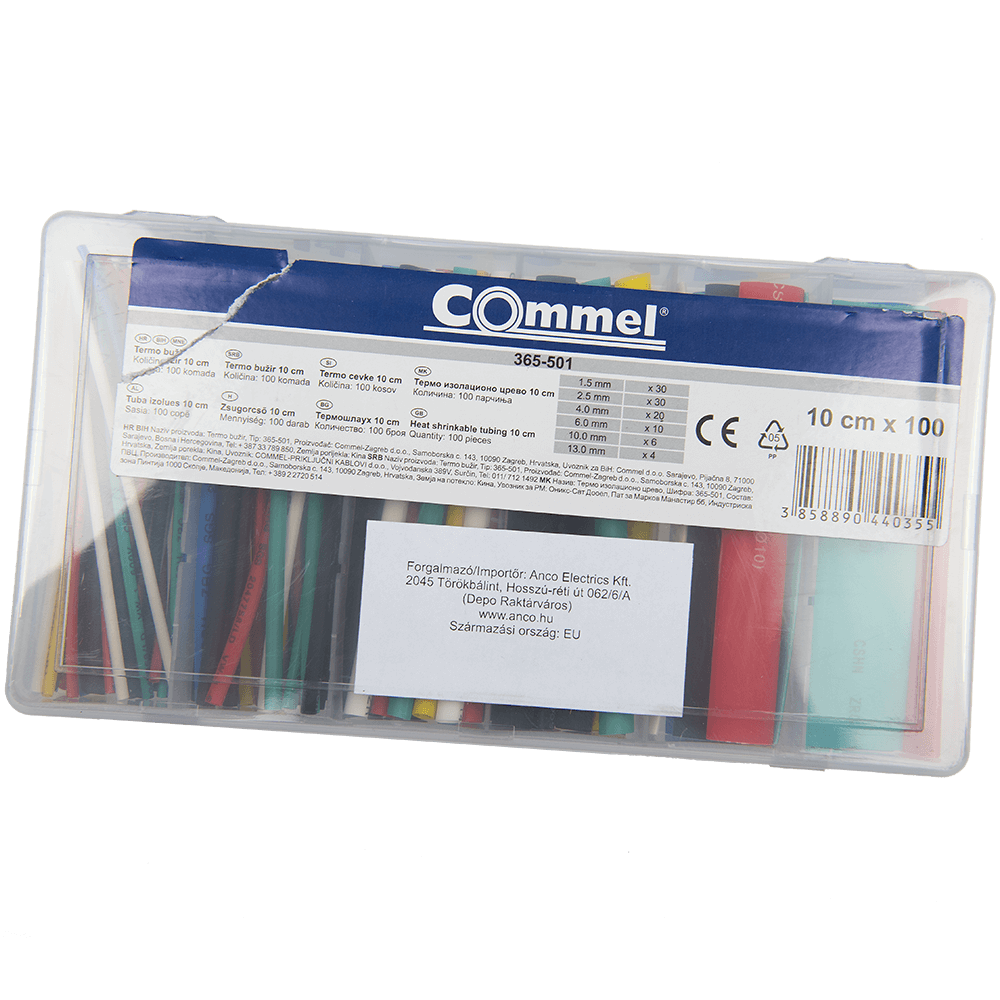 Tub termocontractabil multicolor, 10 cm, 100 pcs mathaus 2021