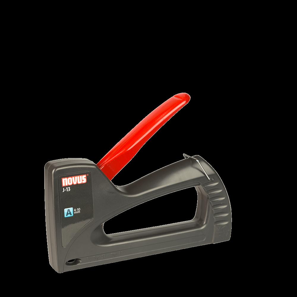 Capsator manual, plastic ABS, pentru tapiterie, Novus J-13, pentru capse A, H, 53 sau 37, 4 - 10 mm