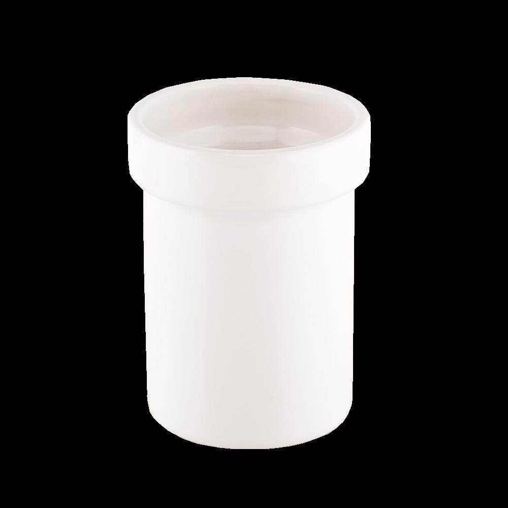 Pahar de baie Romtatay Martins, ceramica, alb, 10 x 9 x 16 cm imagine 2021 mathaus