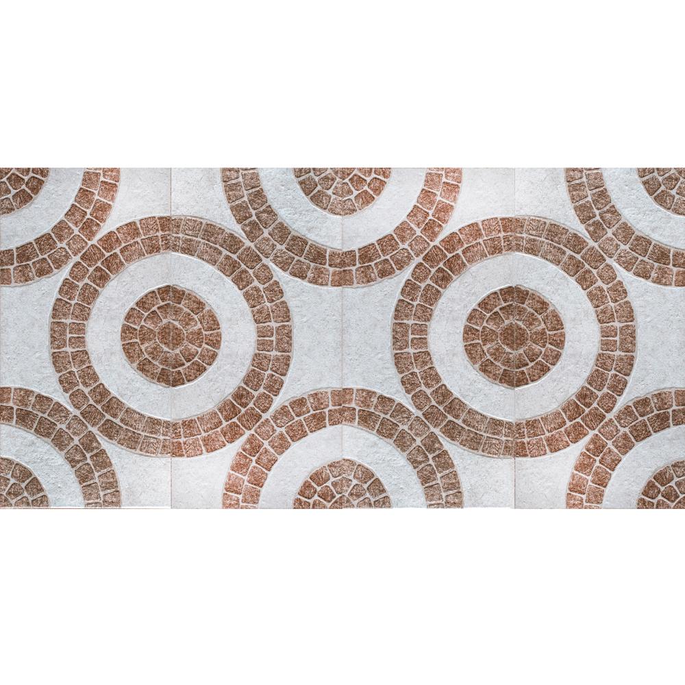 Gresie portelanata exterior Premier Com Rondo Brown, PEI 4, maro, geometric, 30 x 60 cm mathaus 2021