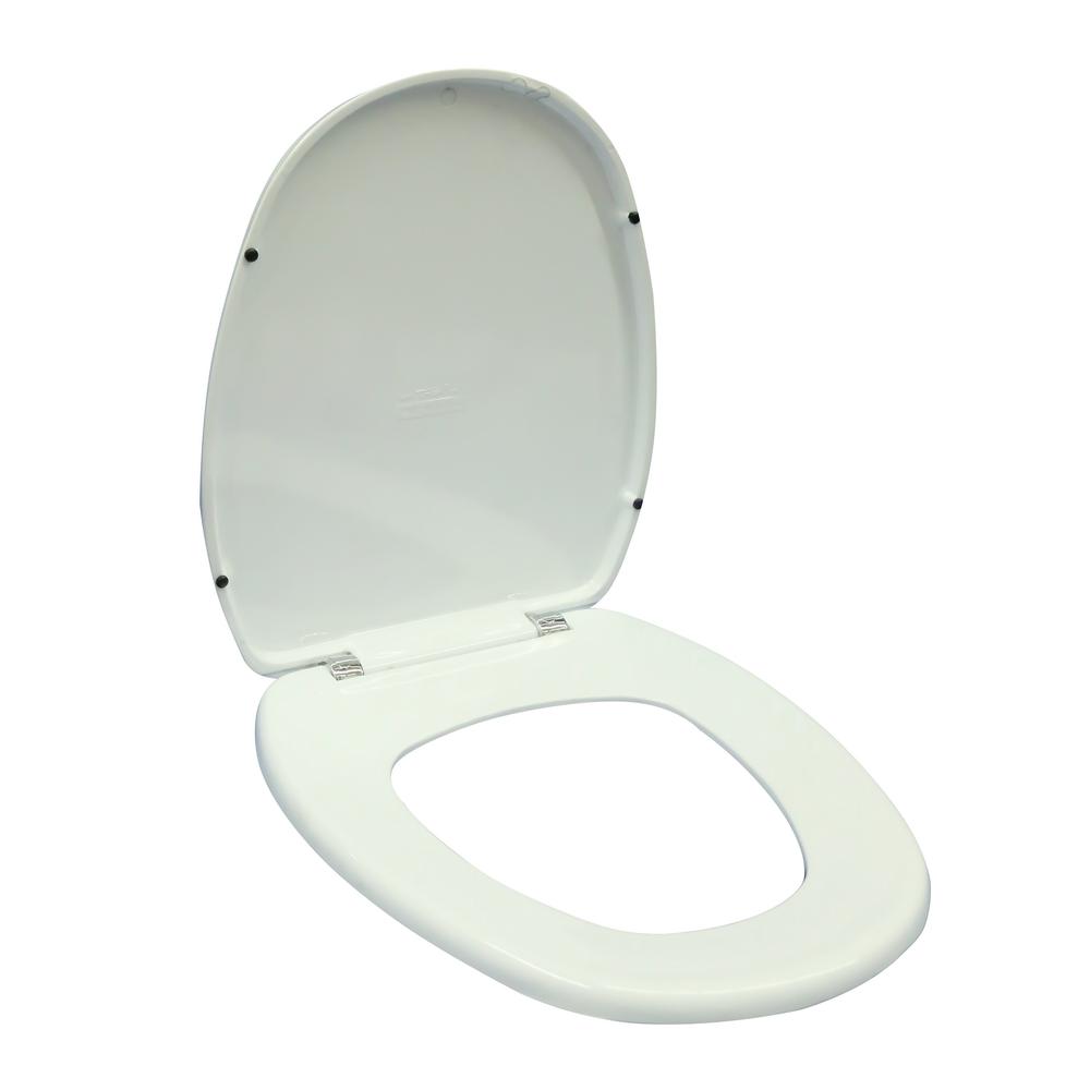 Capac WC Germania, polipropilena,  alb, 37.7x43x5 cm