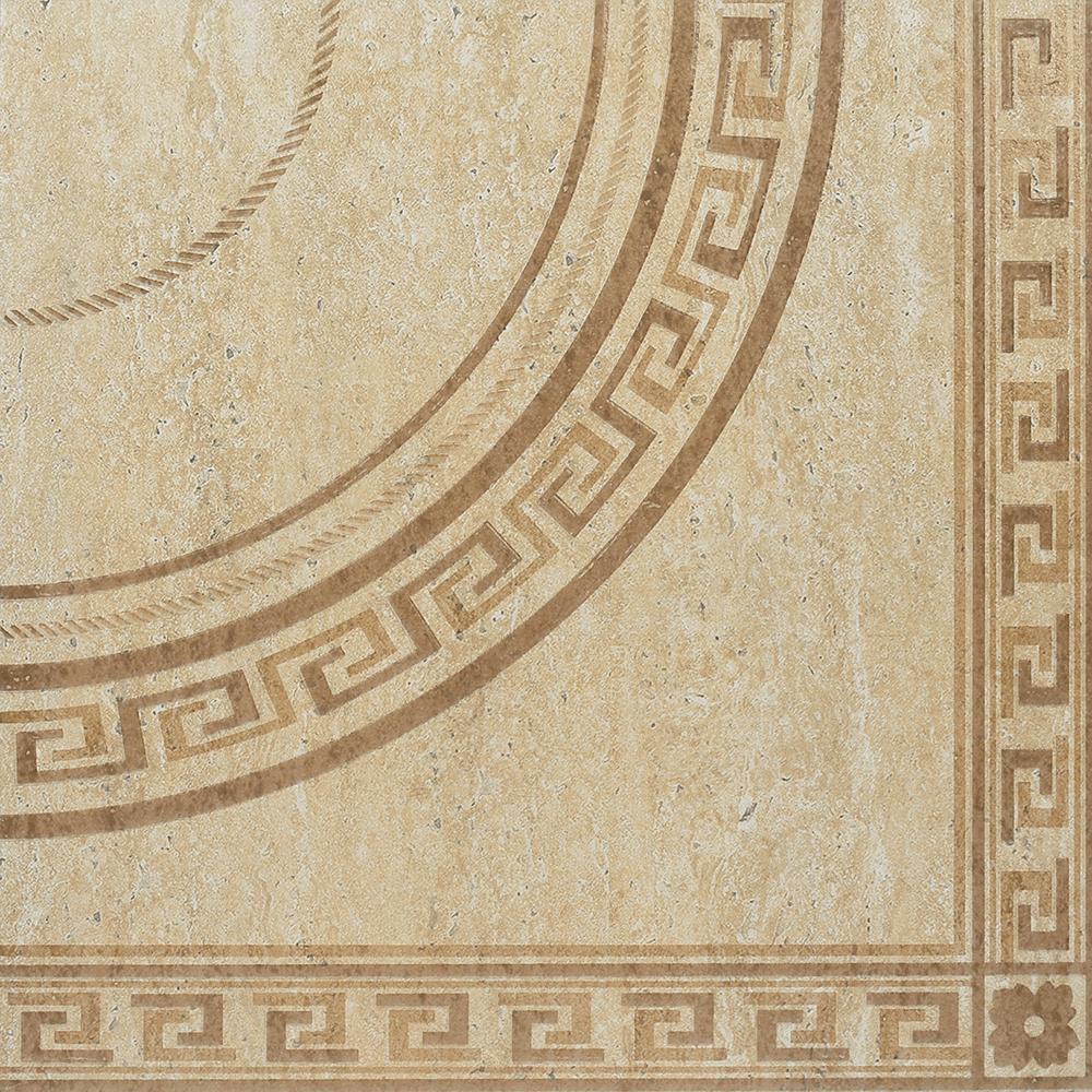 Gresie decor portelanata bej Travertine, 45 x 45 cm, set 2 buc mathaus 2021