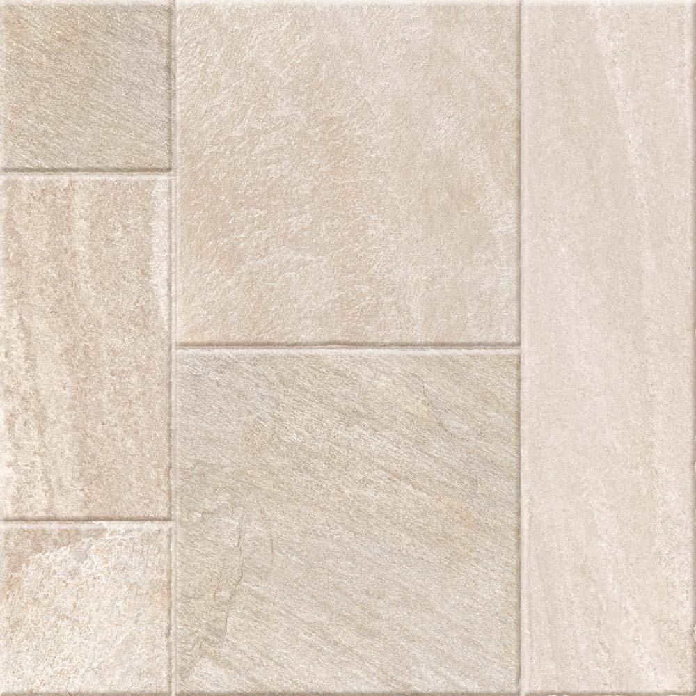 Gresie portelanata Kai Ceramics Santana Mix Beige, bej mat, aspect de piatra, patrata, 60 x 60 cm