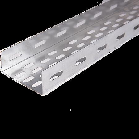 Jgheab metalic perforat Metaksan, 100x40x0.8 mm, 3 m