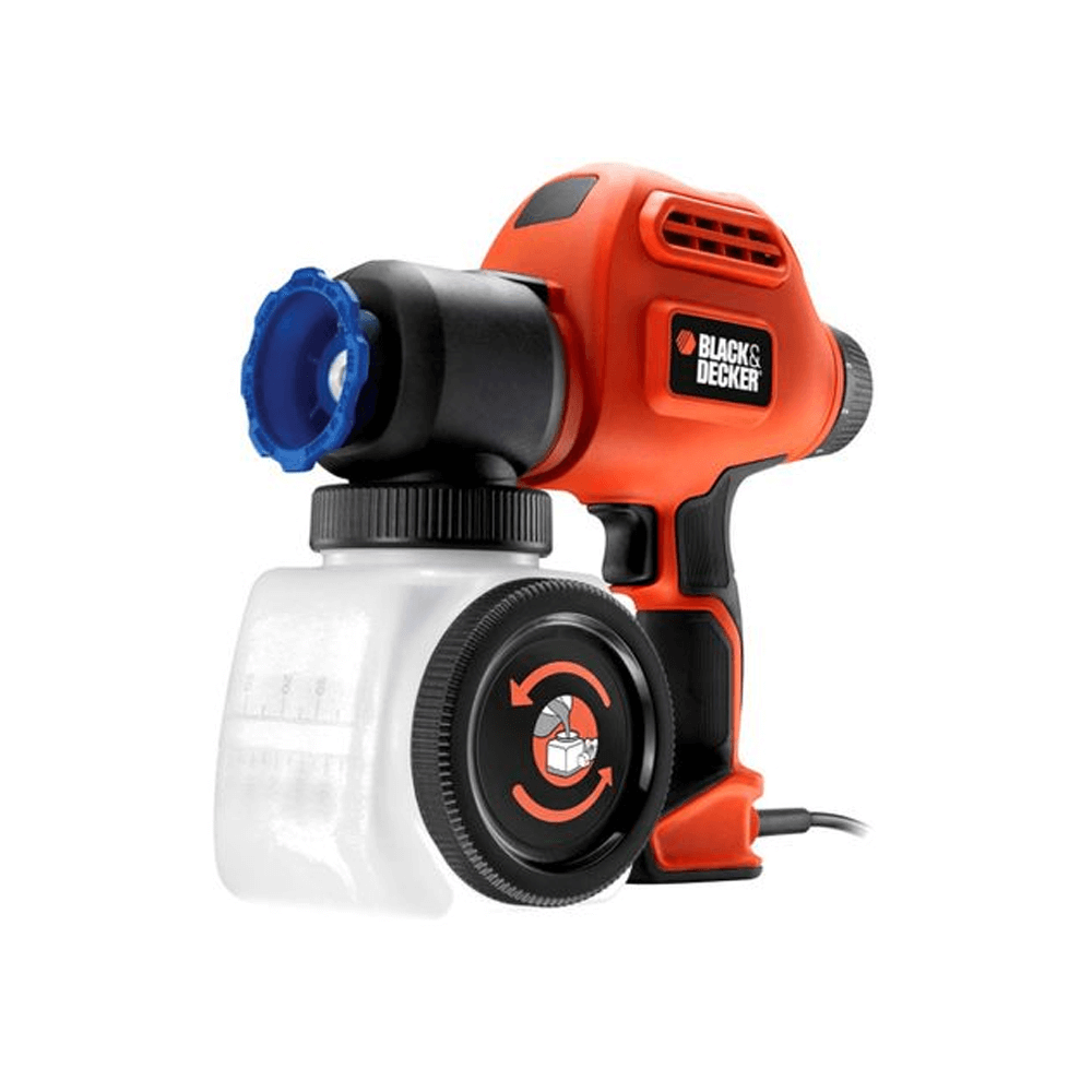 Pistol de vopsit Black&Decker BDPS200, 120W, debit 6 trepte, rezervor 1200 ml imagine 2021 mathaus