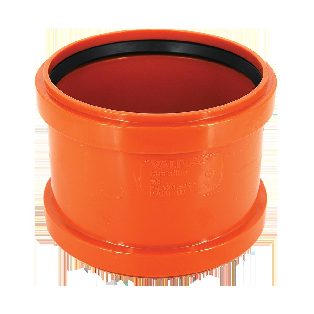 Mufa pentru canalizare Valplast, pvc, potrocaliu, 160 mm