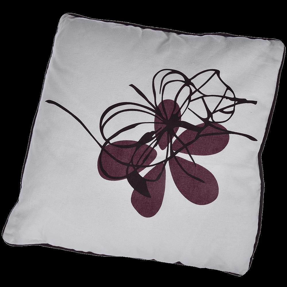 Perna decorativa Palak, bumbac 100%, pruna, 40 x 40 cm, model floral mathaus 2021