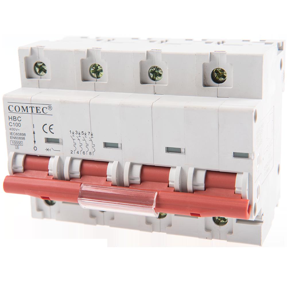 Intrerupator automat tripolar HBC 10kA MCB 100/3N/C imagine MatHaus.ro
