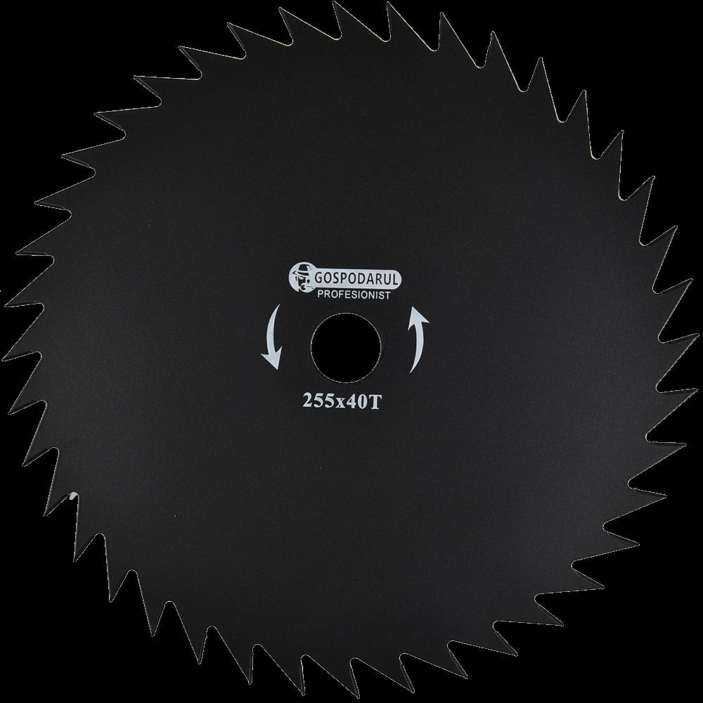 Disc taietor 40T 10 pentru motocoase, patru lame, 255 x 25.4 mm