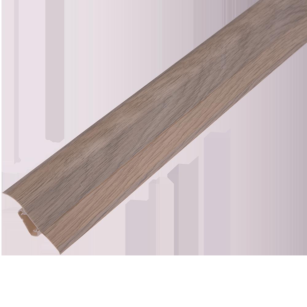 Plinta parchet, cu canal dublu, PVC, stejar havana, 2500 mm imagine MatHaus