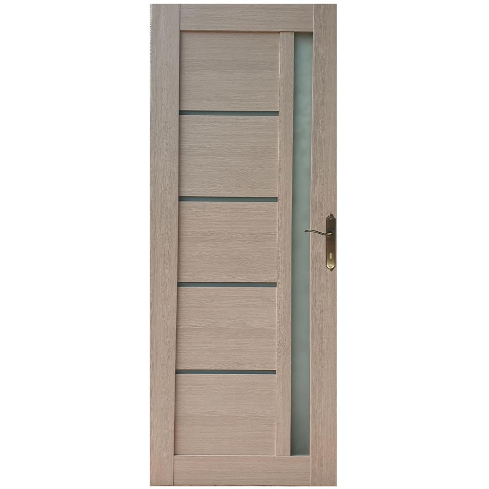 Usa interior cu geam Pamate U72, crem, 203 x 70 x 3,5 cm + toc 10 cm, reversibila