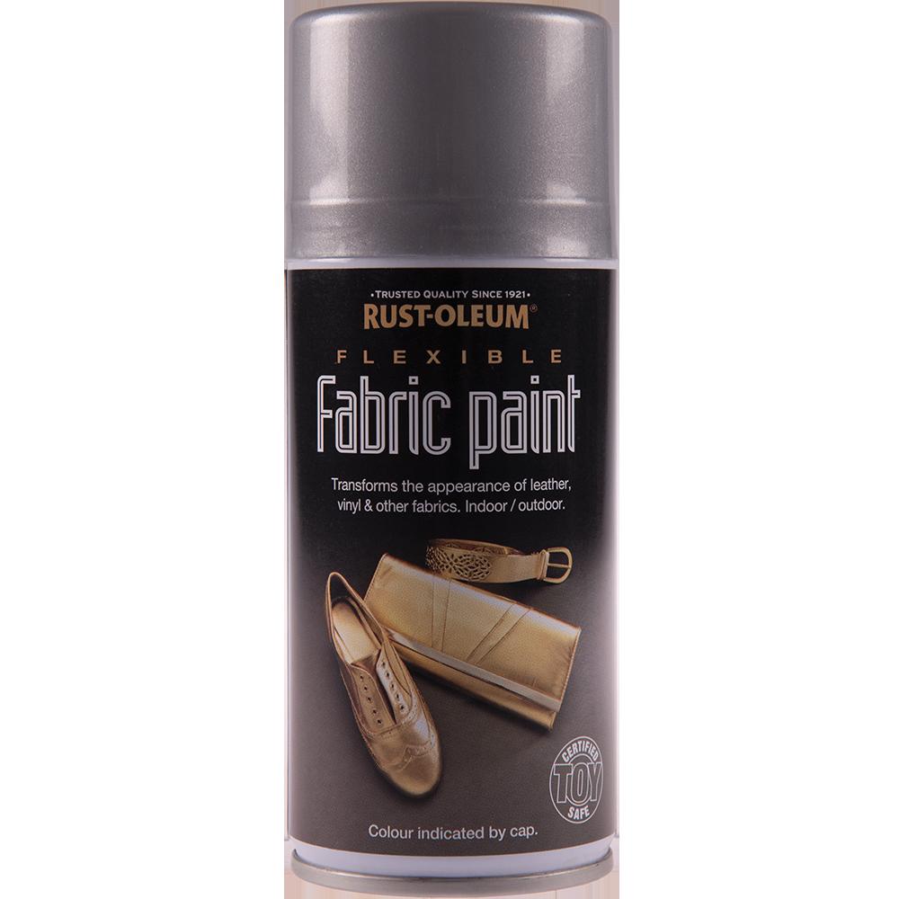 Spray vopsea pentru tesaturi, piele si vinilin Rustoleum, argintiu, 150 ml imagine MatHaus