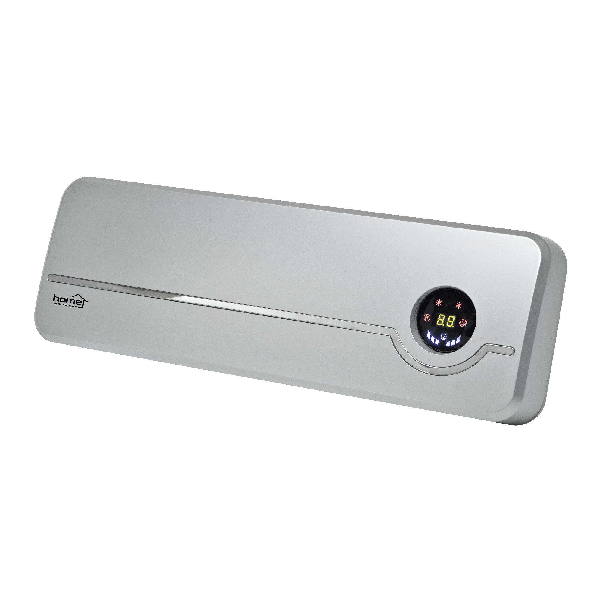 Aeroterma de perete cu ventilator FKF 56202 Home by Somogyi, 2000W , 2 trepte, termostat electronic, oprire automata, IP20, 56 x 19 x 12 cm imagine 2021 mathaus