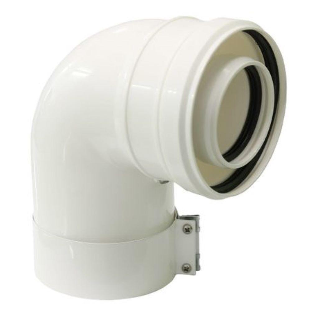 Cot coaxial 90° Beretta, PP, D=60/100 mm imagine MatHaus.ro