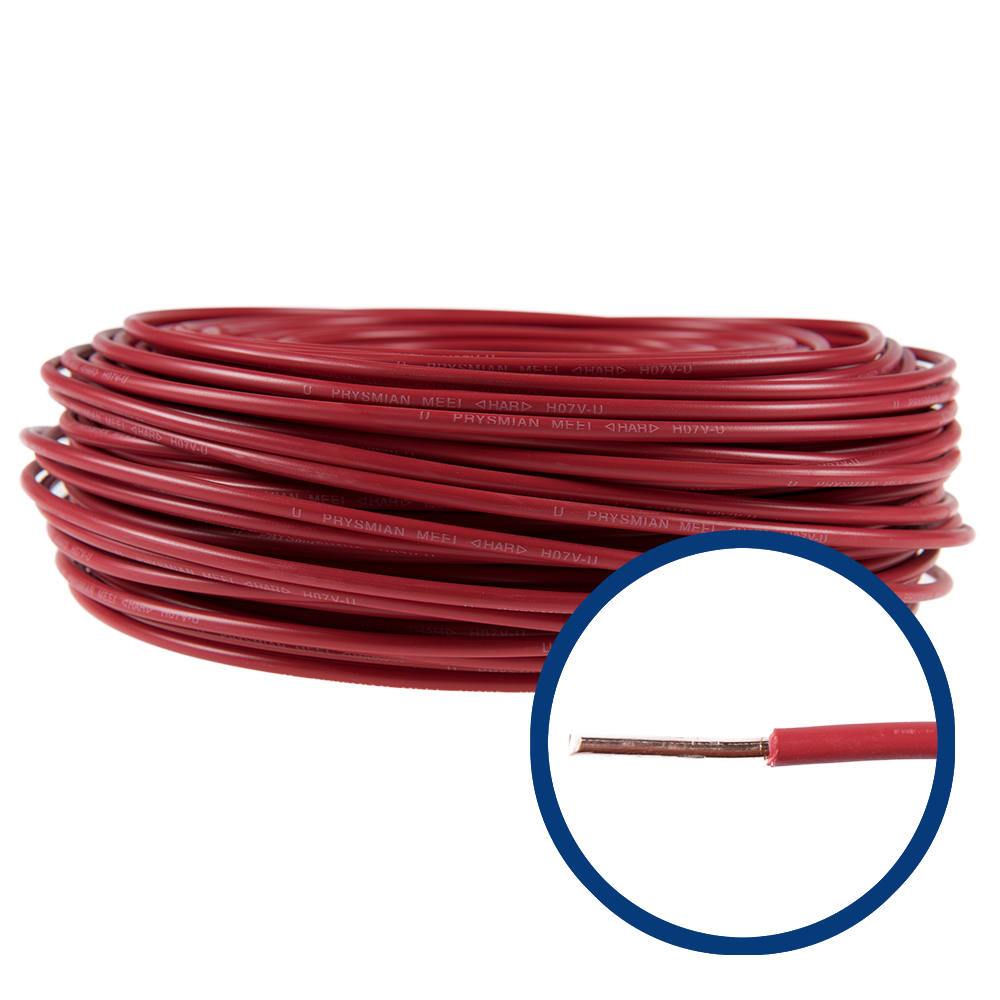 Cablu electric FY/ H07V-U 6 mm rosu