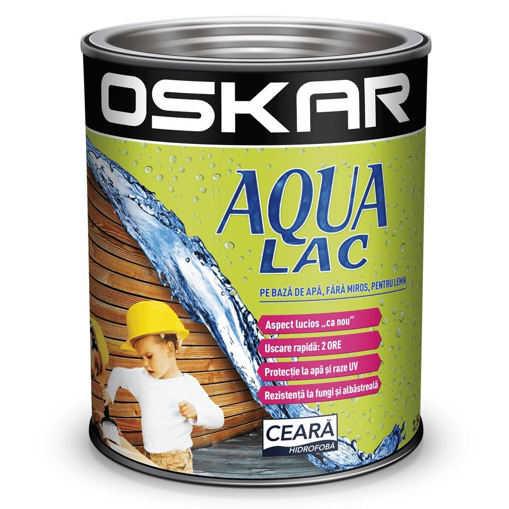 Lac pentru lemn Oskar Aqua Lac, tec, interior/exterior, 5L