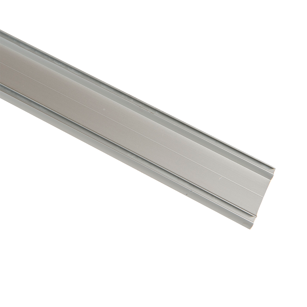 Profil dublu de rulare inferior pentru sistem de glisare PKL 80, material aluminiu, lungime 3 m, dimensiuni 50 x 6 mm imagine 2021 mathaus