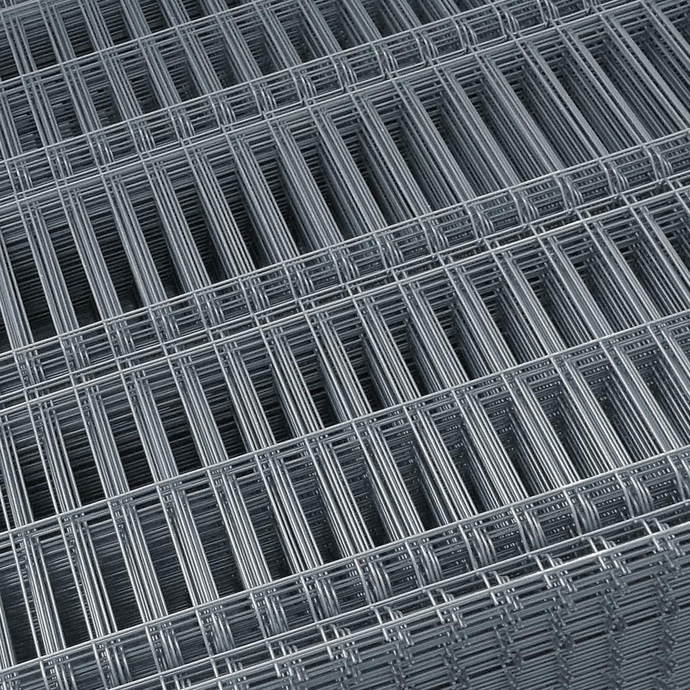 Panou gard plastifiat zincat bordurat gri 4,2x1500x2000 mm imagine MatHaus.ro