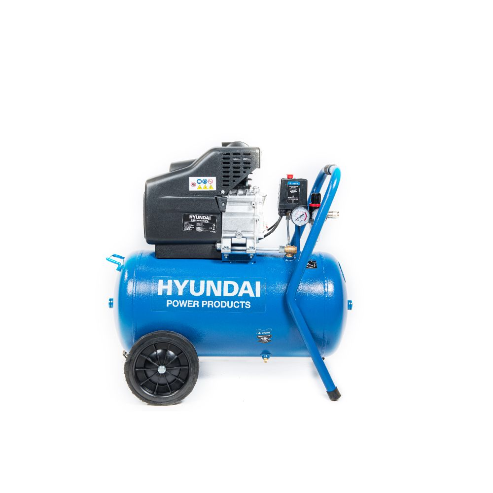 Compresor de aer Hyundai HY-AC5002, monofazat, 1600 W, 2850 rpm, 8 bar, 50 l imagine 2021 mathaus