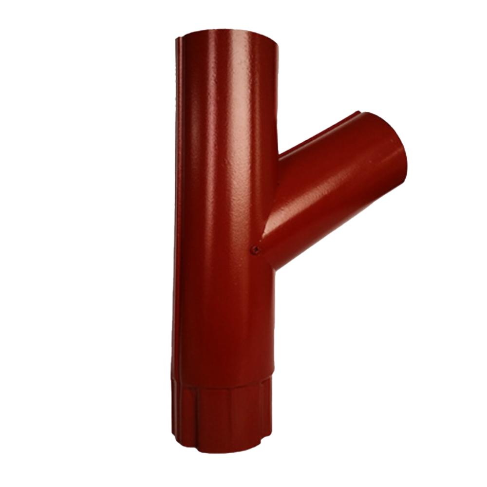 Ramificatie burlan, otel zincat, 125/88 mm, rosu RAL 3011