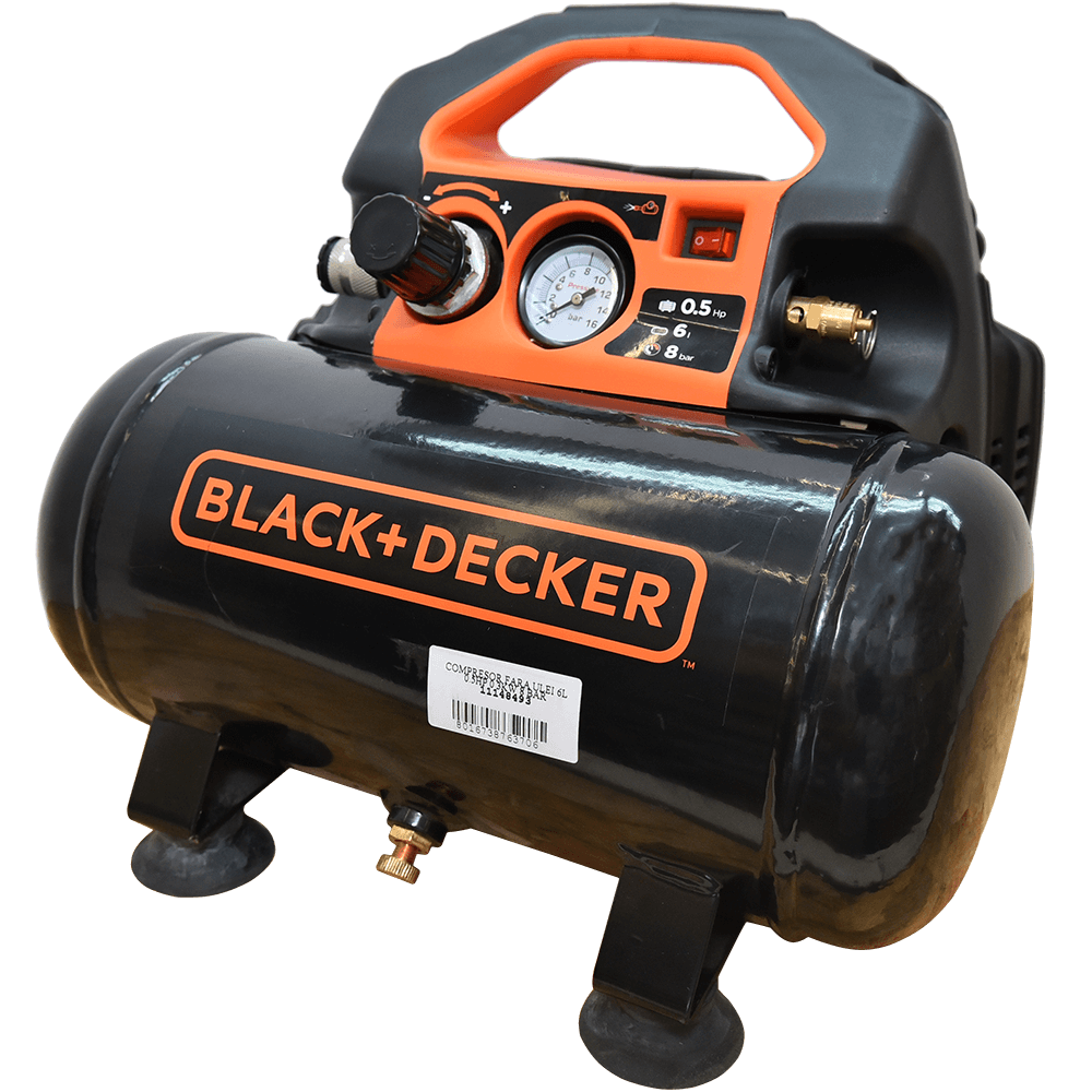 Compresor de aer Black&Decker BD 55/6, 500 W, 4200 rpm, 8 bar, 6 L imagine 2021 mathaus