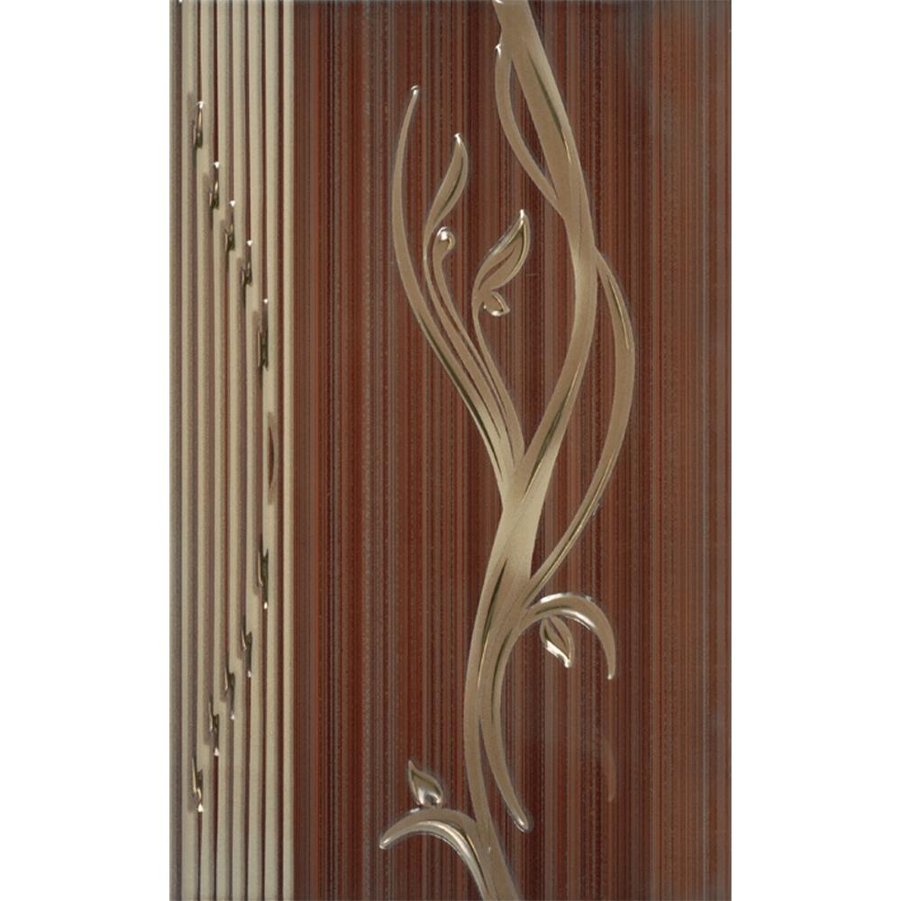 Faianta decorativa Kai Ceramics Sorel, maro, finisaj estetic, lucioasa, 25 x 40 cm