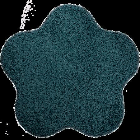 Covor modern Mistral, polipropilena, model floare aqua albastru 46, 80 cm