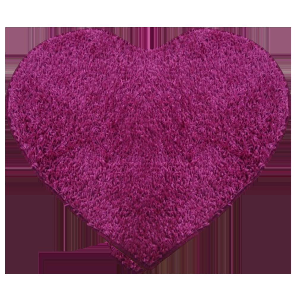 Covor modern Mistral, polipropilena, model inima roz 13, 80 cm imagine MatHaus