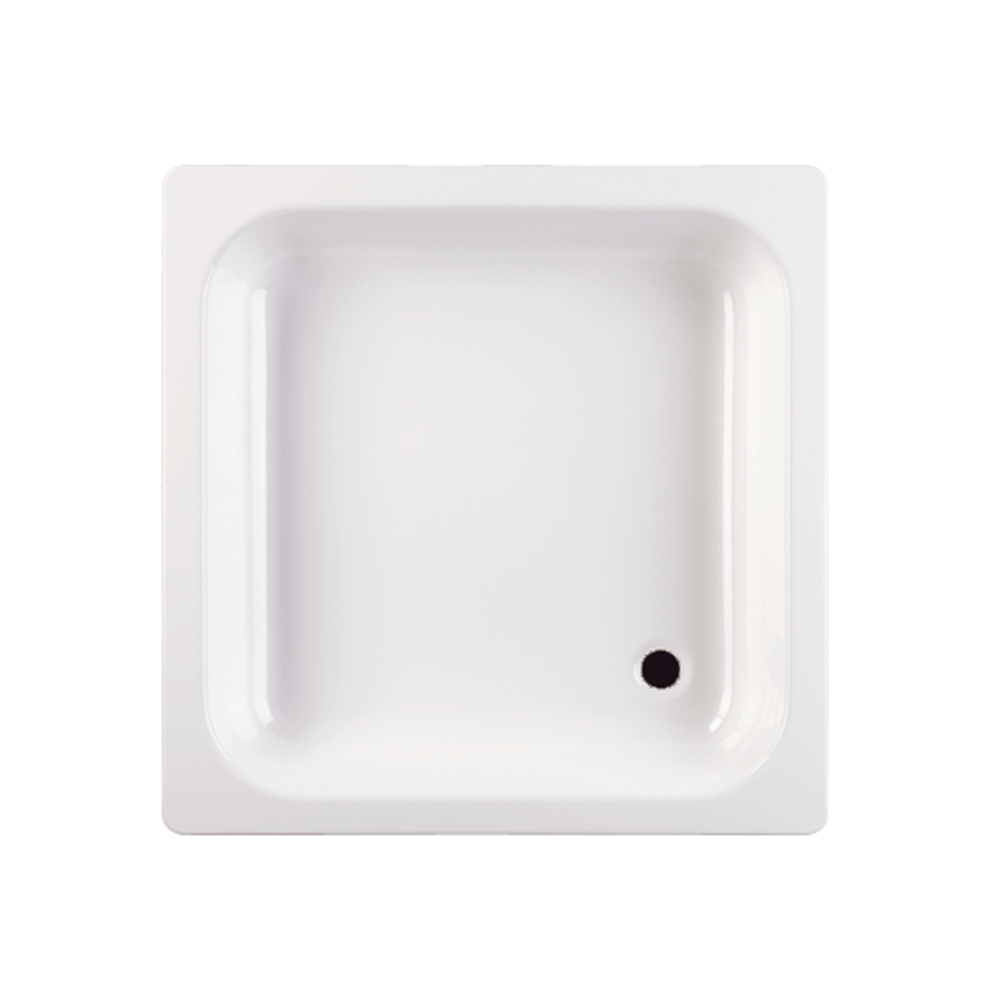 Cadita de dus Roca, otel, patrata, ultraplata, antialunecare, 800 x 800 mm imagine 2021 mathaus