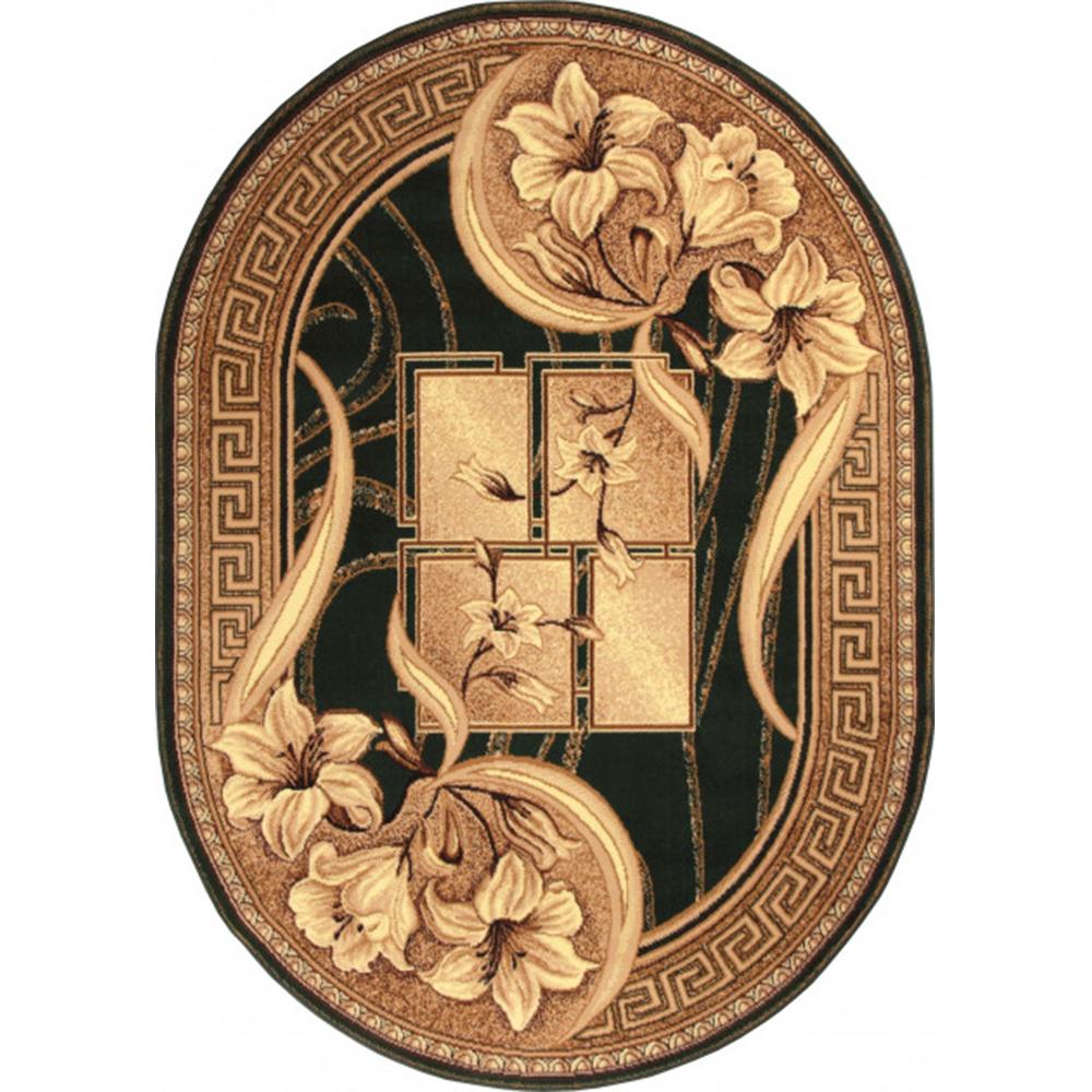 Covor clasic Gold 365/32, polipropilena BCF, bej-maro, 50 x 80 cm