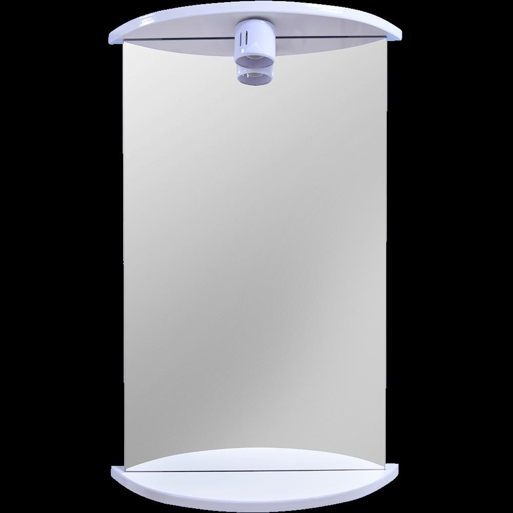 Oglinda baie Savini Due model 941, 1 bec,  PAL, alb