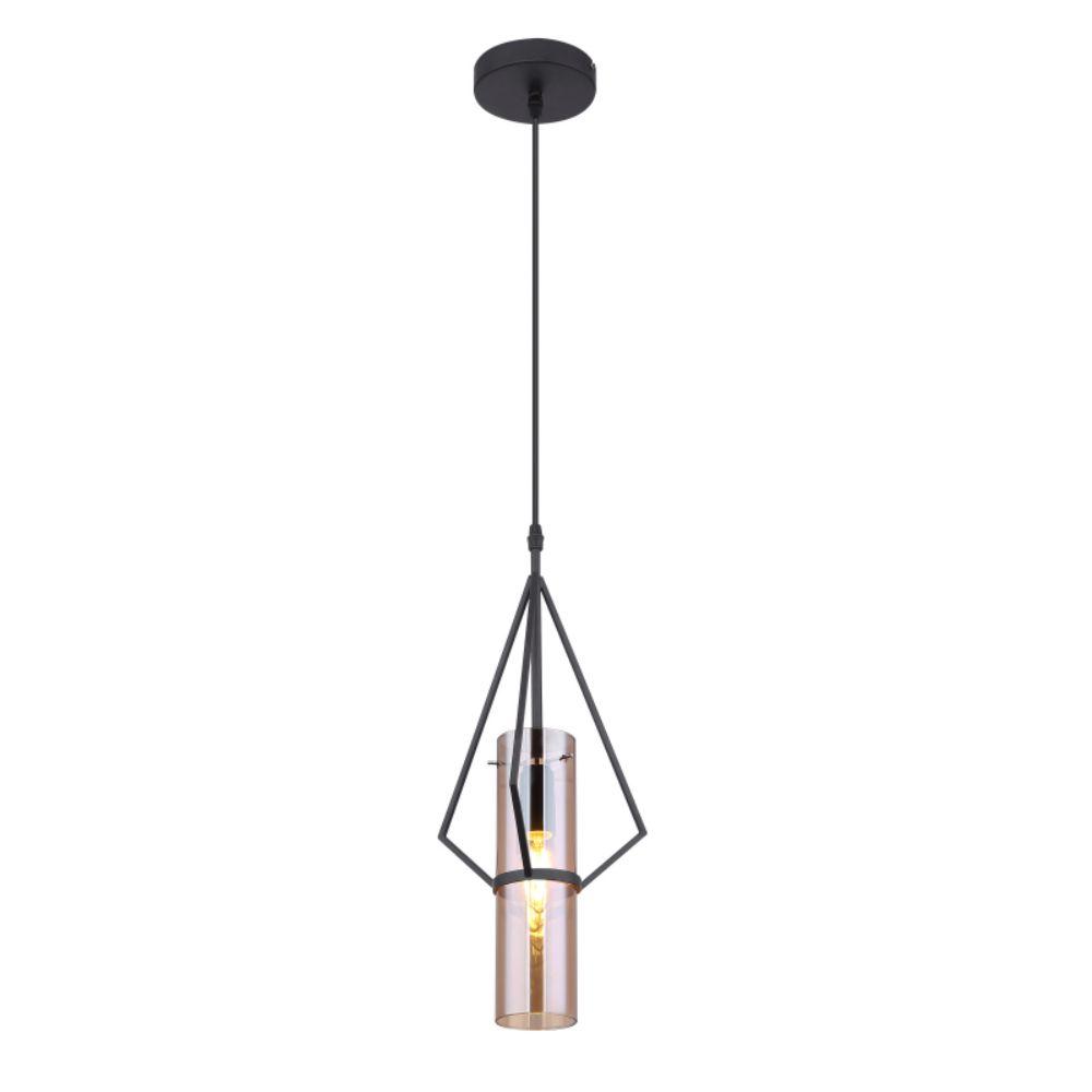 Pendul Gijon 15353H,1 x E14, 40W, H1500 X D 210 mm, negru + maro mathaus 2021