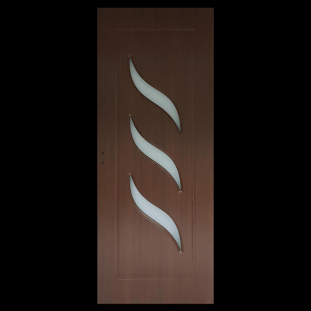 Usa de interior cu geam Pamate M02, stejar auriu, 200 x 80 cm + toc 10 cm, reversibila imagine 2021 mathaus