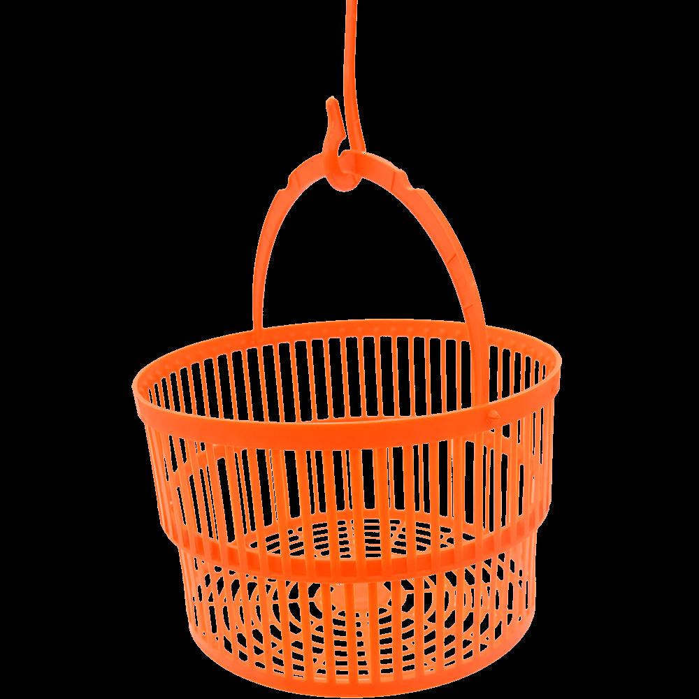 Cosulet rotund dublu extensibil, plastic, portocaliu, 19,5 x 8 cm imagine MatHaus.ro