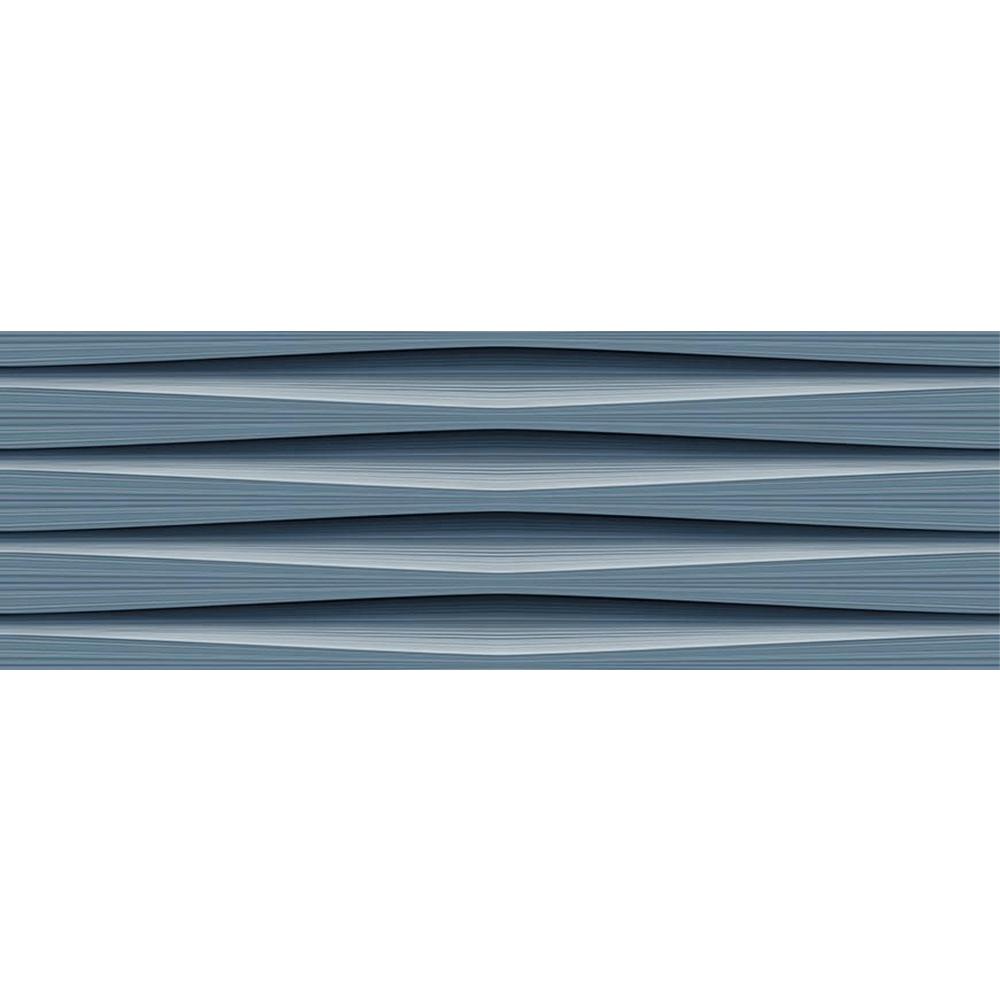 Faianta Baleno Aqua DK albastru, rectificata, lucioasa, dreptunghiulara, 25 x 75 cm