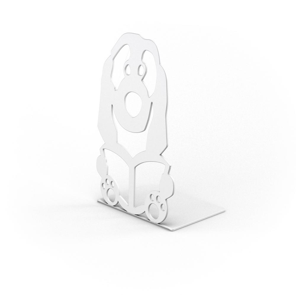 Suport pentru carti catel, alb, 126 x 100 x 205 mm mathaus 2021
