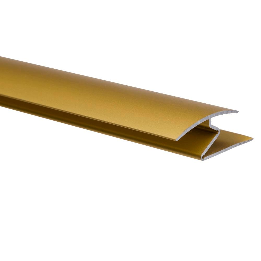 Profil de trecere cu surub mascat cu diferenta de nivel A69 Effector auriu, 2,7 m imagine MatHaus.ro