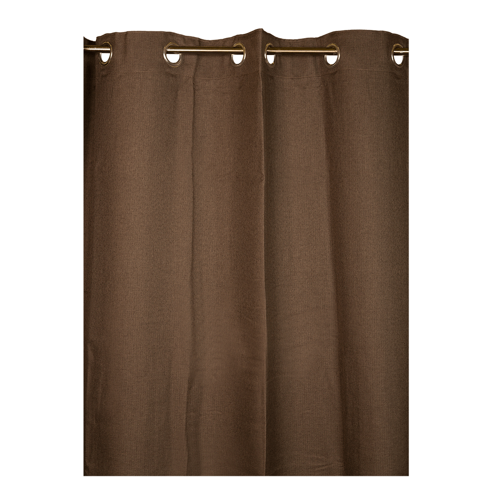 Draperie Bombay Dimout, 145x245 cm, 308 maro inchis, 100% polyester