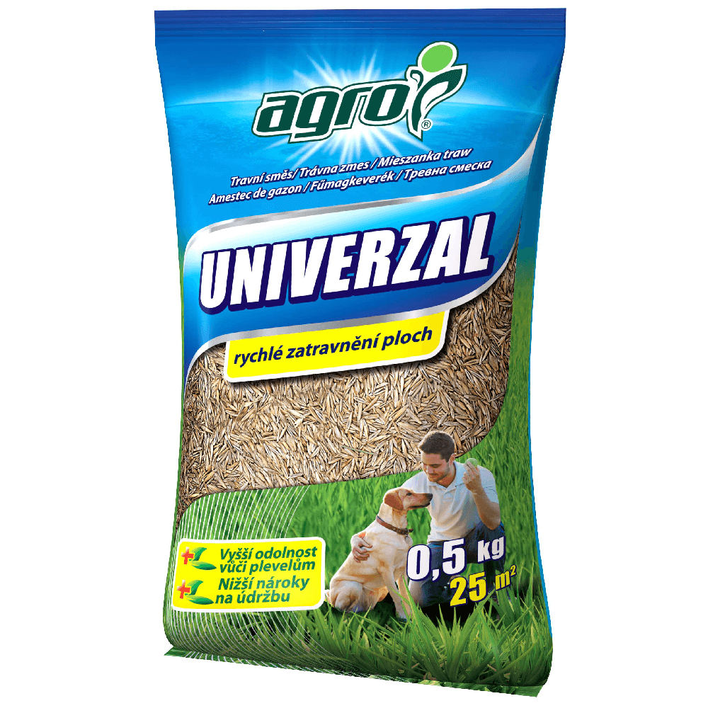 Amestec de gazon Agro Universal, 25 mp, 0.5 kg imagine 2021 mathaus