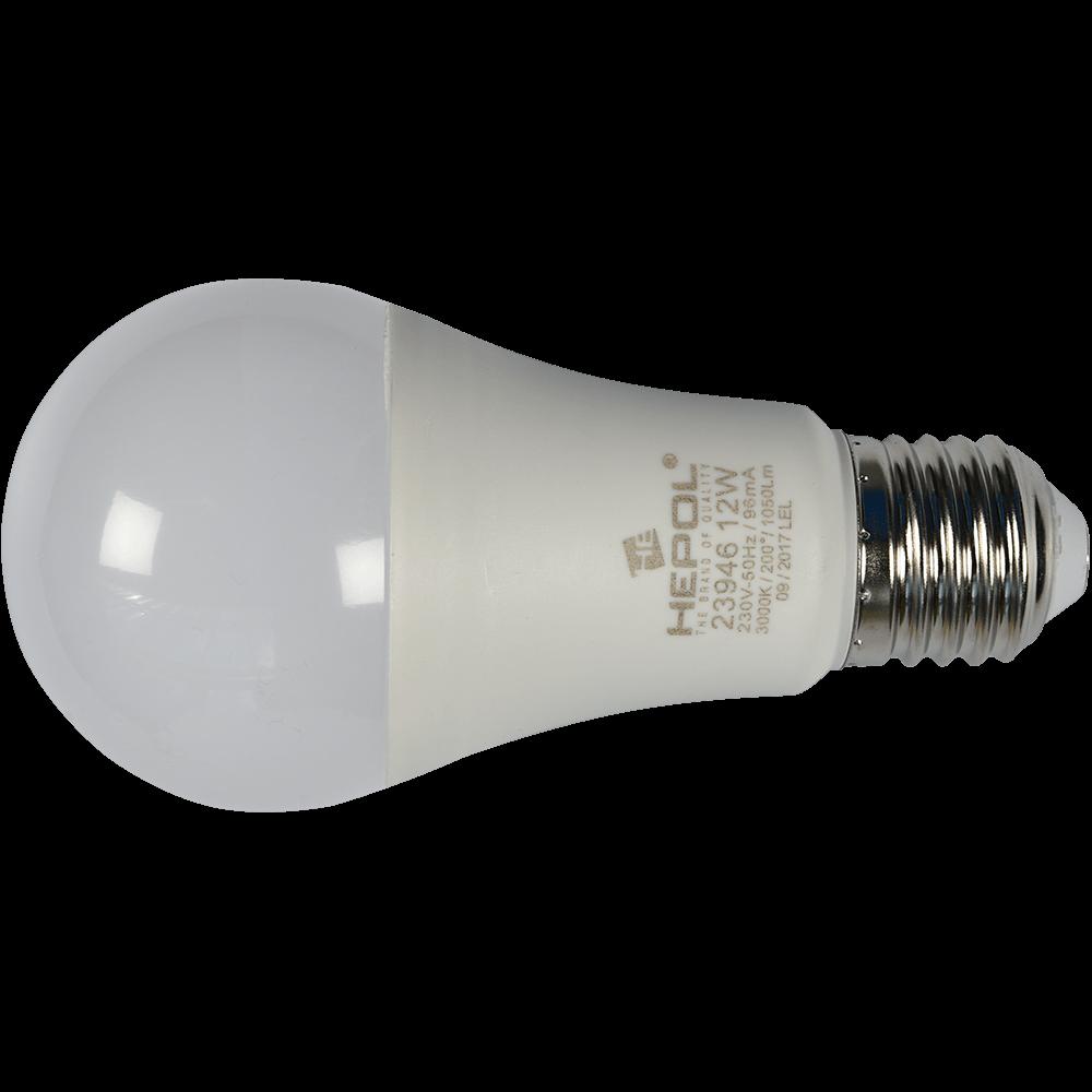 Bec Normal A-60 Cu Led E27 12W Hepol Lumina Calda mathaus 2021