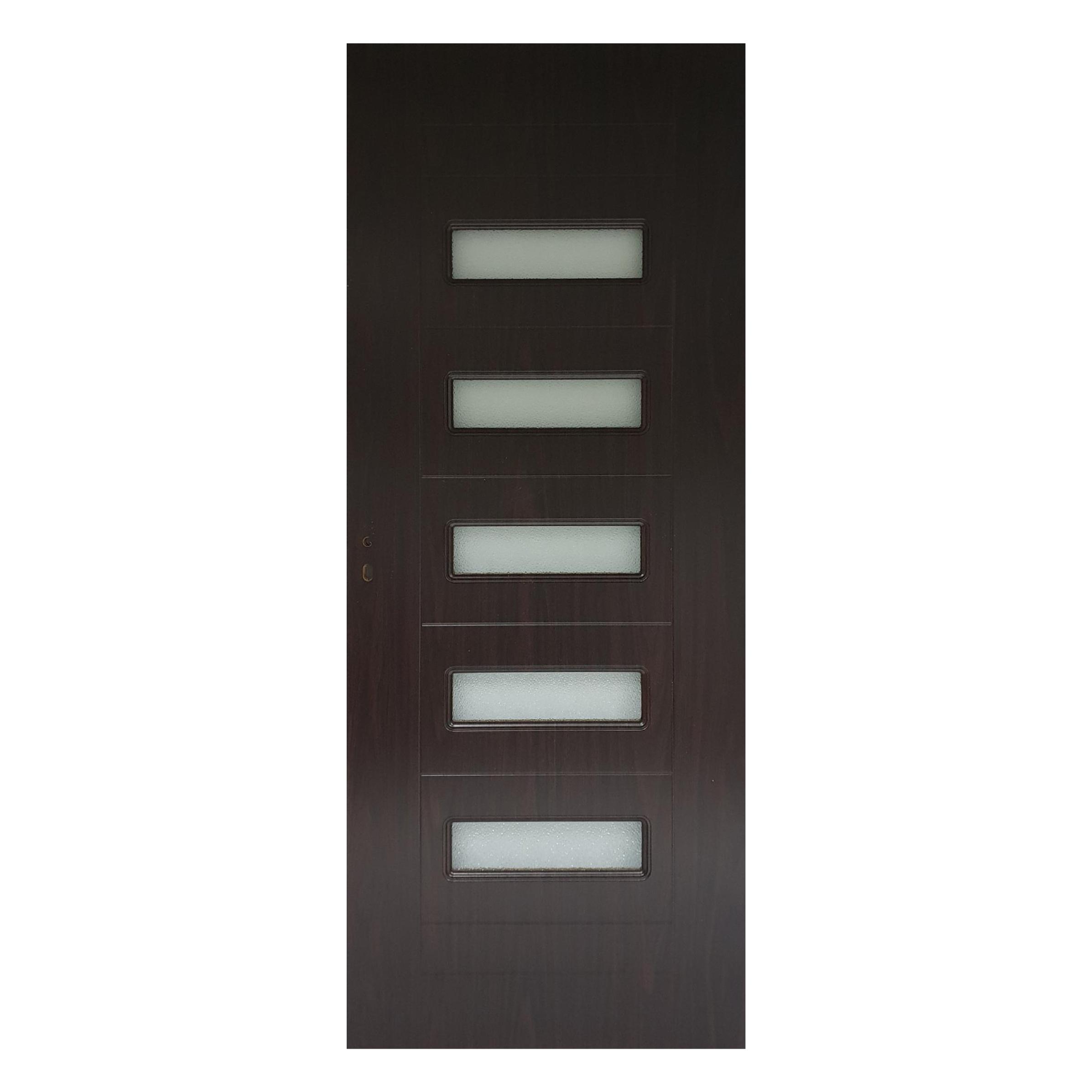 Usa interior cu geam Pamate M104, wenge, 203 x 70 x 3,5 cm + toc 10 cm, reversibila imagine 2021 mathaus