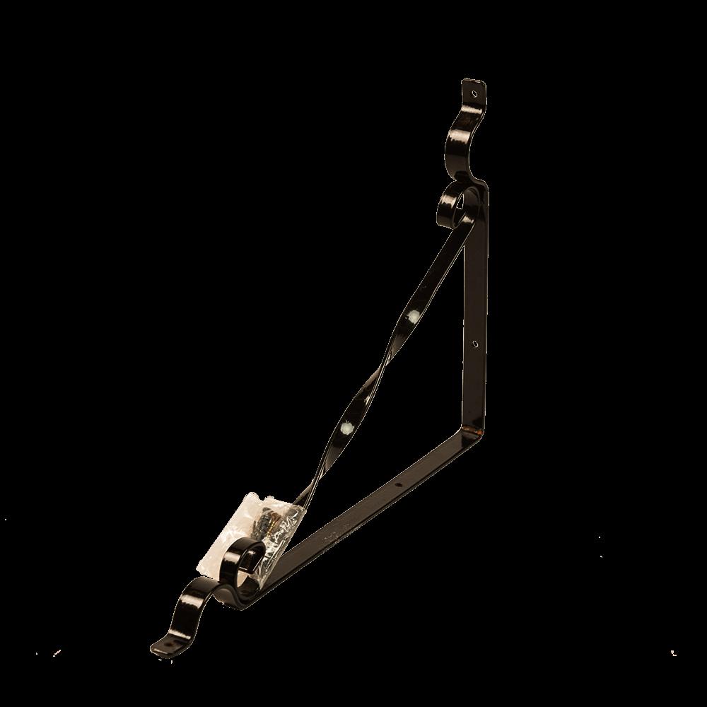 Suport cu agatatoare, 1 ghiveci M2, fier forjat, negru