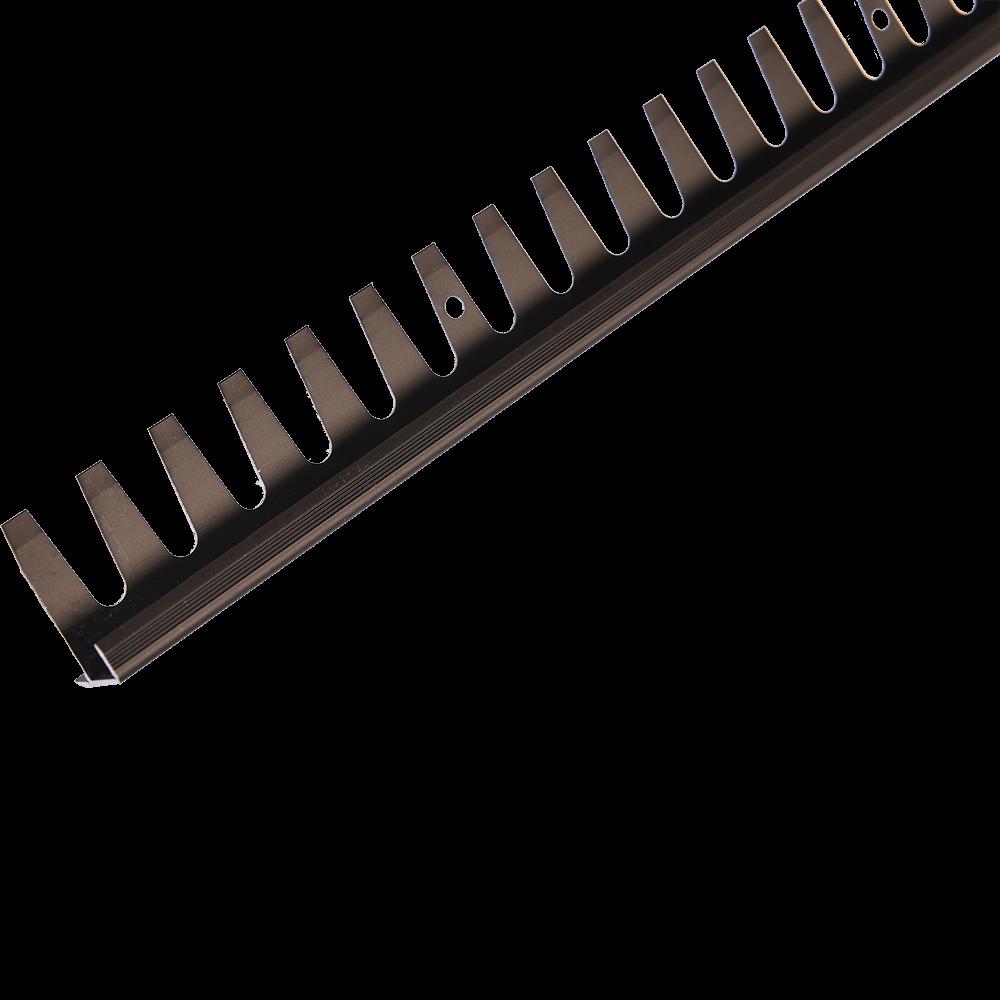 Profil pentru treapta din aluminiu indoibil Set Prod S91 cu latime 25 mm, bronz, 2,5 m imagine 2021 mathaus