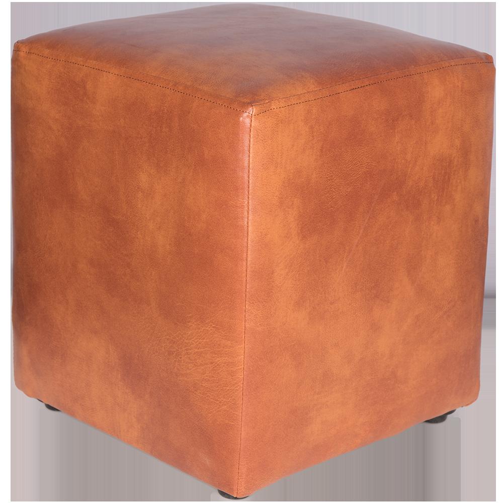 Taburet Cube tapiterie piele ecologica cires IP8070 45x37x37 cm
