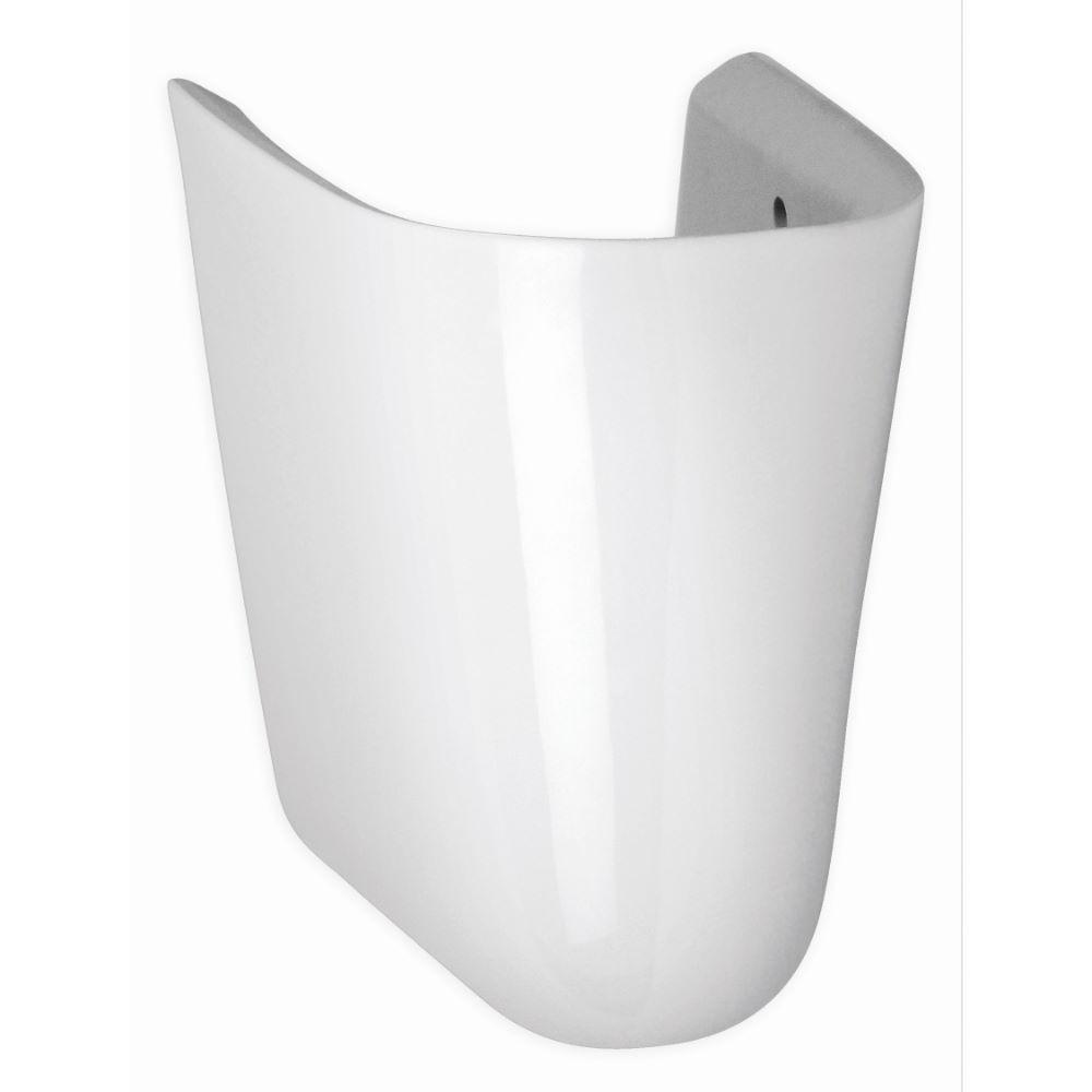 Semipiedestal Neo pentru lavoar, semi-rotund, ceramica sanitara, alb imagine 2021 mathaus